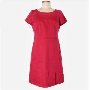 Tablots Short Sleeve Solid Pink A-Line Shift Dress